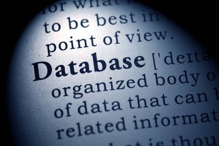 Fake Dictionary, Dictionary definition of the word database  版權商用圖片