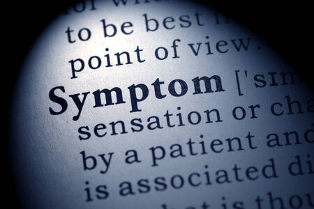 Fake Dictionary, Dictionary definition of the word symptom