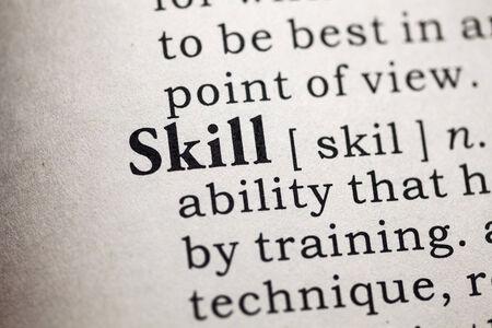 skill: Fake Dictionary, Dictionary definition of the word skill