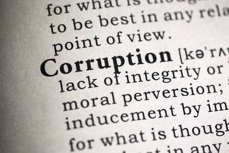 word: Fake Dictionary, Dictionary definition of the word corruption.