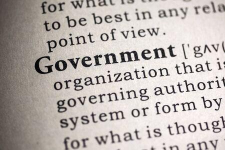 definicion: Diccionario Fake, Definici�n del diccionario de la palabra gobierno.