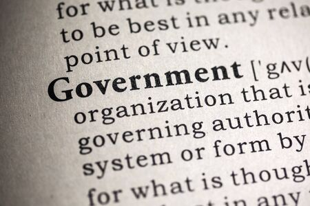 definition: Fake Dictionary, Dictionary definition of the word government.