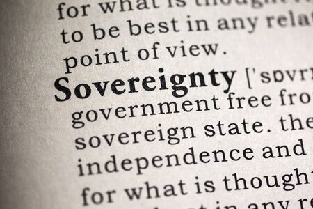 Fake Dictionary, Dictionary definition of the word sovereignty .