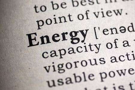 Fake Dictionary, Dictionary definition of the word energy. Stock fotó