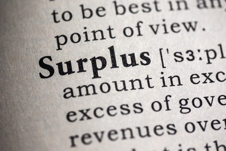 Fake Dictionary, Dictionary definition of the word surplus.