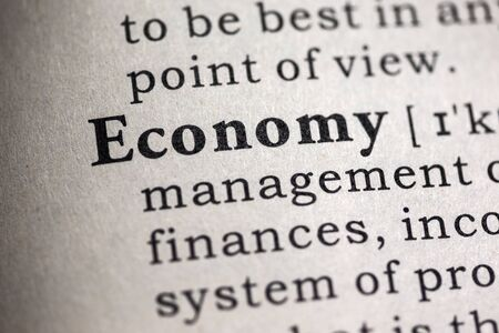 Fake Dictionary, Dictionary definition of the word economy. Stock fotó