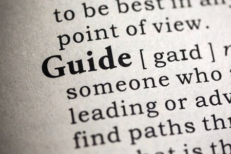 definitions: Fake Dictionary, Dictionary definition of the word guide.