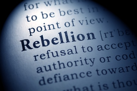 rebellion: Fake Dictionary, Dictionary definition of the word rebellion.