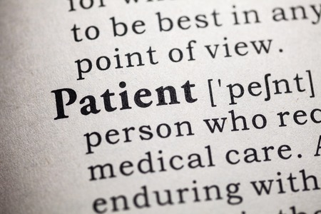 definitions: Fake Dictionary, Dictionary definition of the word Patient.