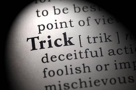 definicion: Diccionario Fake, Definición del diccionario de la palabra truco.