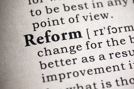 Fake Dictionary, Dictionary definition of the word reform.