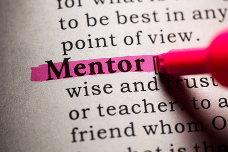 Fake Dictionary, Dictionary definition of the word mentor. Reklamní fotografie