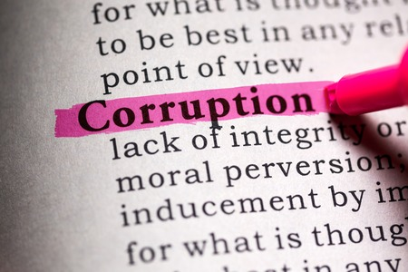 Fake Dictionary, Dictionary definition of the word corruption.