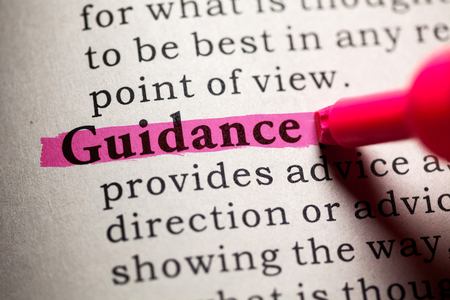 Fake Dictionary, Dictionary definition of the word guidance.