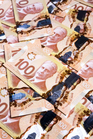 canadian currency: Canadian Dollar, concept of business and finance