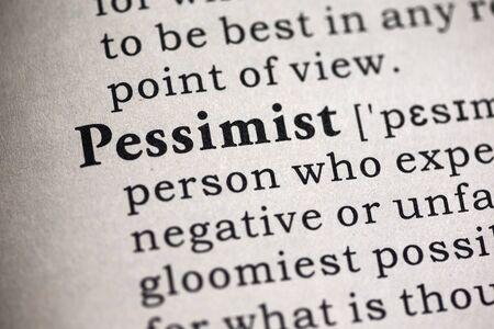 definicion: Diccionario Fake, Definici�n del diccionario de la palabra pesimista.