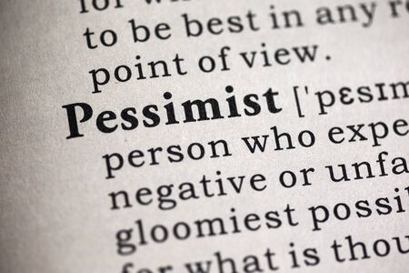 Fake Dictionary, Dictionary definition of the word pessimist.