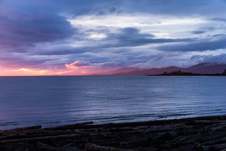 evening glow: evening glow in Iona beach vancouver Stock Photo