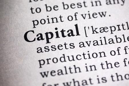 definicion: Diccionario Fake, Definici�n del diccionario de la palabra capital.