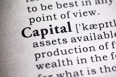 Fake Dictionary, Dictionary definition of the word capital. Stock fotó