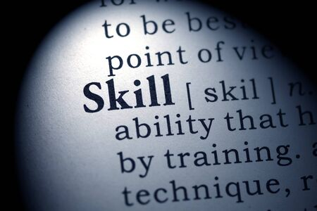 skill: Fake Dictionary, Dictionary definition of the word skill.