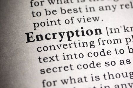 Fake Dictionary, Dictionary definition of the word encryption.