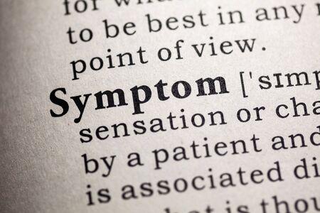 symptom: Fake Dictionary, Dictionary definition of the word symptom.