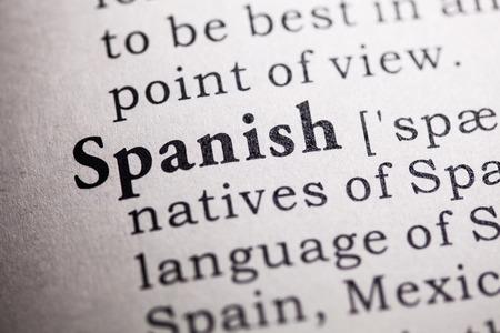 languages: Diccionario falso, Definición del diccionario de la palabra española.
