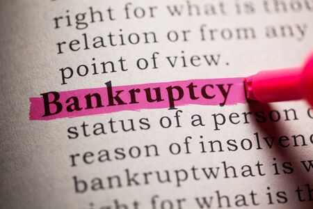 Fake Dictionary, definition of the word Bankruptcy.