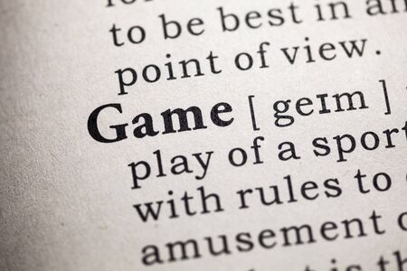 word game: Fake Dictionary, Dictionary definition of the word game.