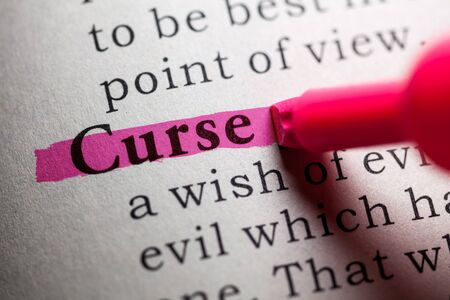 to curse: Fake Dictionary, definition of the word curse.