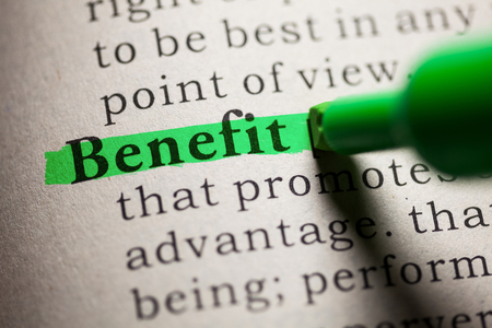 Fake Dictionary, definition of the word Benefit.