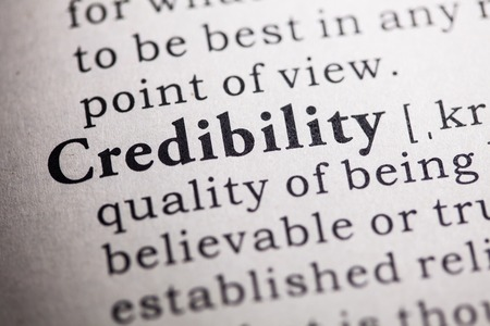 Fake Dictionary, Dictionary definition of the word credibility. Stock fotó