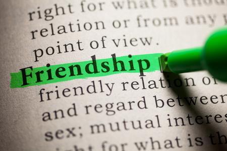 가짜 사전, 단어 우정의 정의.