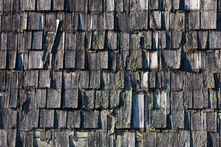 Texture of a shingle Roof Stock Photo