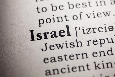 definición: Diccionario falso, Definición del diccionario de la palabra Israel.