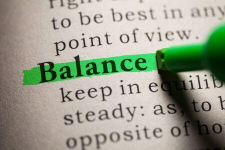 definicion: Falso diccionario, definici�n de la palabra Balance.