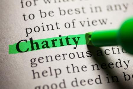 definicion: Falso diccionario, definición de la palabra Caridad.