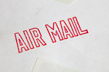red air mail stamp
