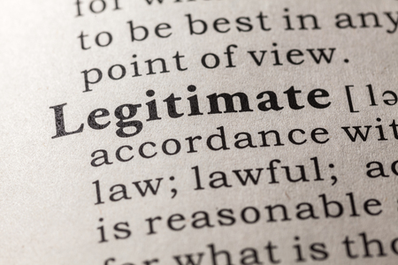 legitimate: Fake Dictionary, Dictionary definition of the word legitimate