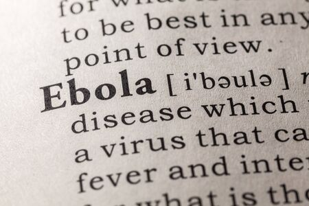 Fake Dictionary, Dictionary definition of the word Ebola Stock Photo - 48655569