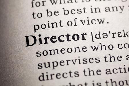 definicion: Diccionario falso, Definición del diccionario de la palabra el director.