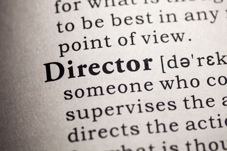 Fake Dictionary, Dictionary definition of the word director.