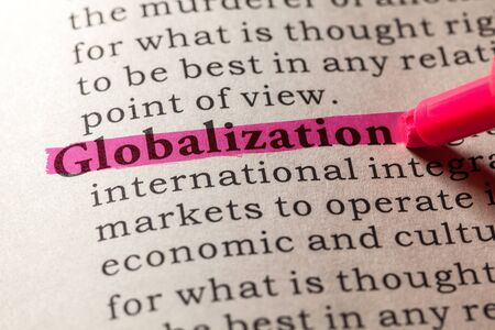 Fake Dictionary, Dictionary definition of the word globalization 免版税图像 - 48655583