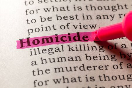 homicide: Fake Dictionary, Dictionary definition of the word homicide