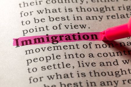 dictionary: Fake Dictionary, Dictionary definition of the word immigration