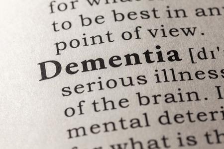 definicion: Diccionario falso, Definición del diccionario de la palabra demencia