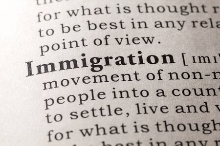 Fake Dictionary, Dictionary definition of the word immigration