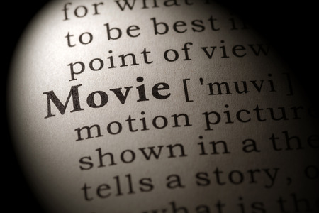 dictionary definition: Fake Dictionary, Dictionary definition of the word movie Stock Photo