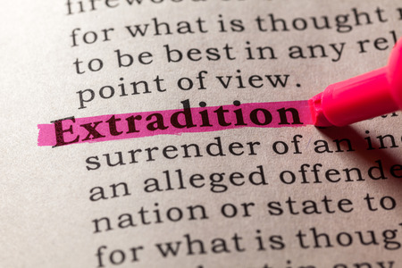 definición: Definición del diccionario de la palabra de extradición